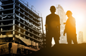 NEBOSH safety in a construction environment training workers