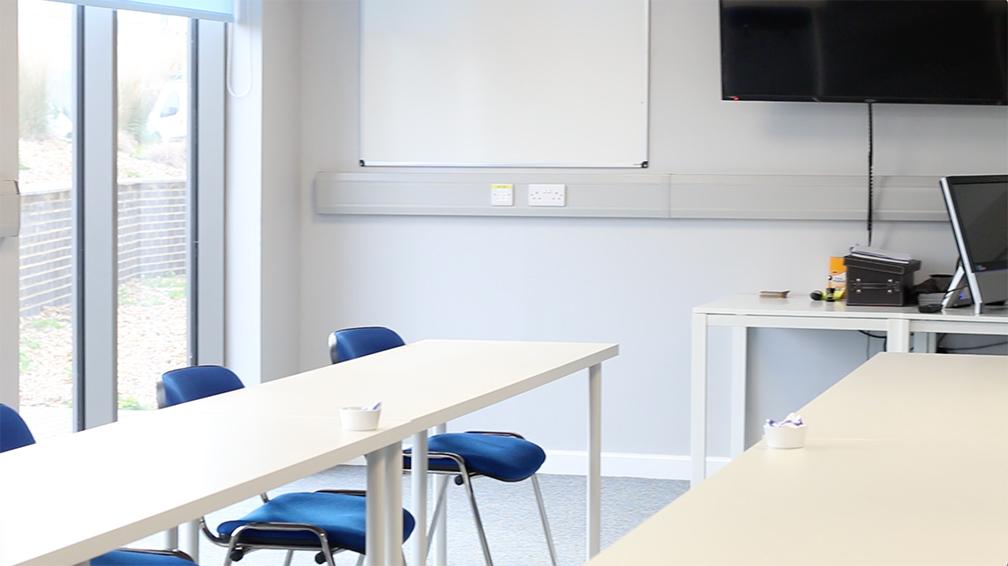 SAMS training room in Manston, Kent