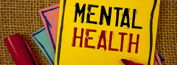 Awareness of First Aid for Mental Health post-it notes