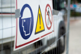 construction site safety signage for cscs green card labourers