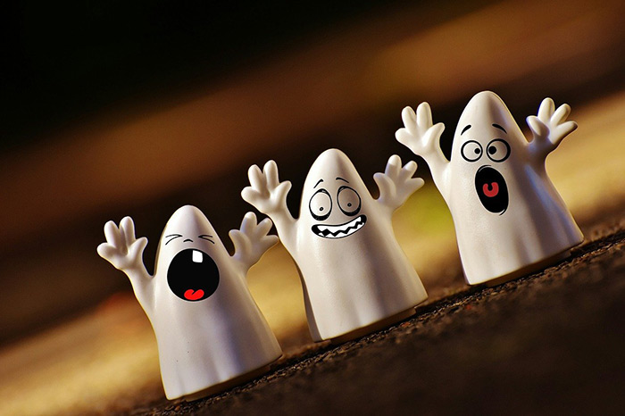 halloween ghosts with silly faces