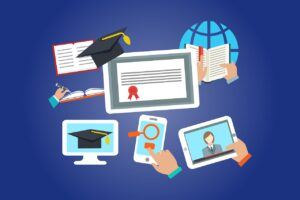 virtual learning on various devices